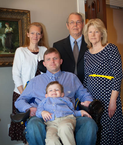 Andrew Brown and his family