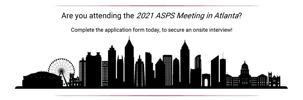 Are you attending the 2021 ASPS meeting in Atlanta?